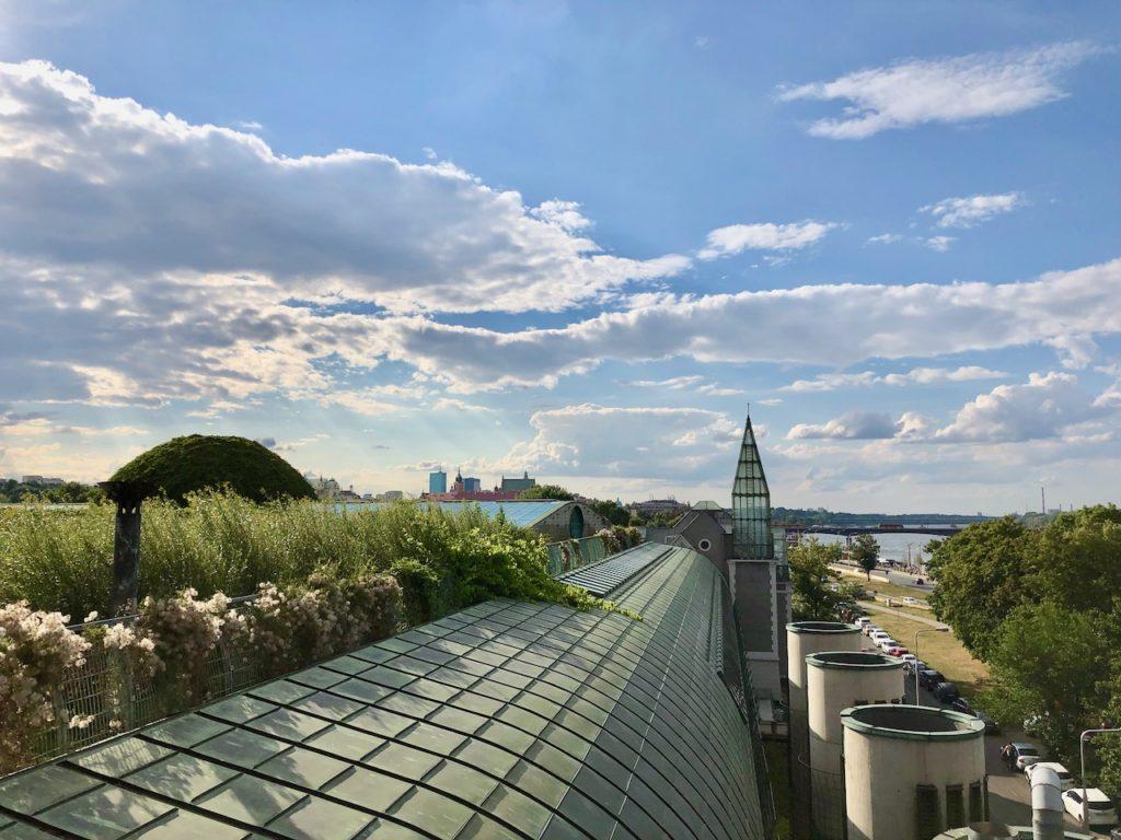 Warschau Geheimtipp: Blick vom Dachgarten der Uni-Bibliothek