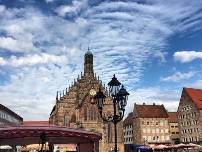 Auf dem Marktplatz Nürnberg