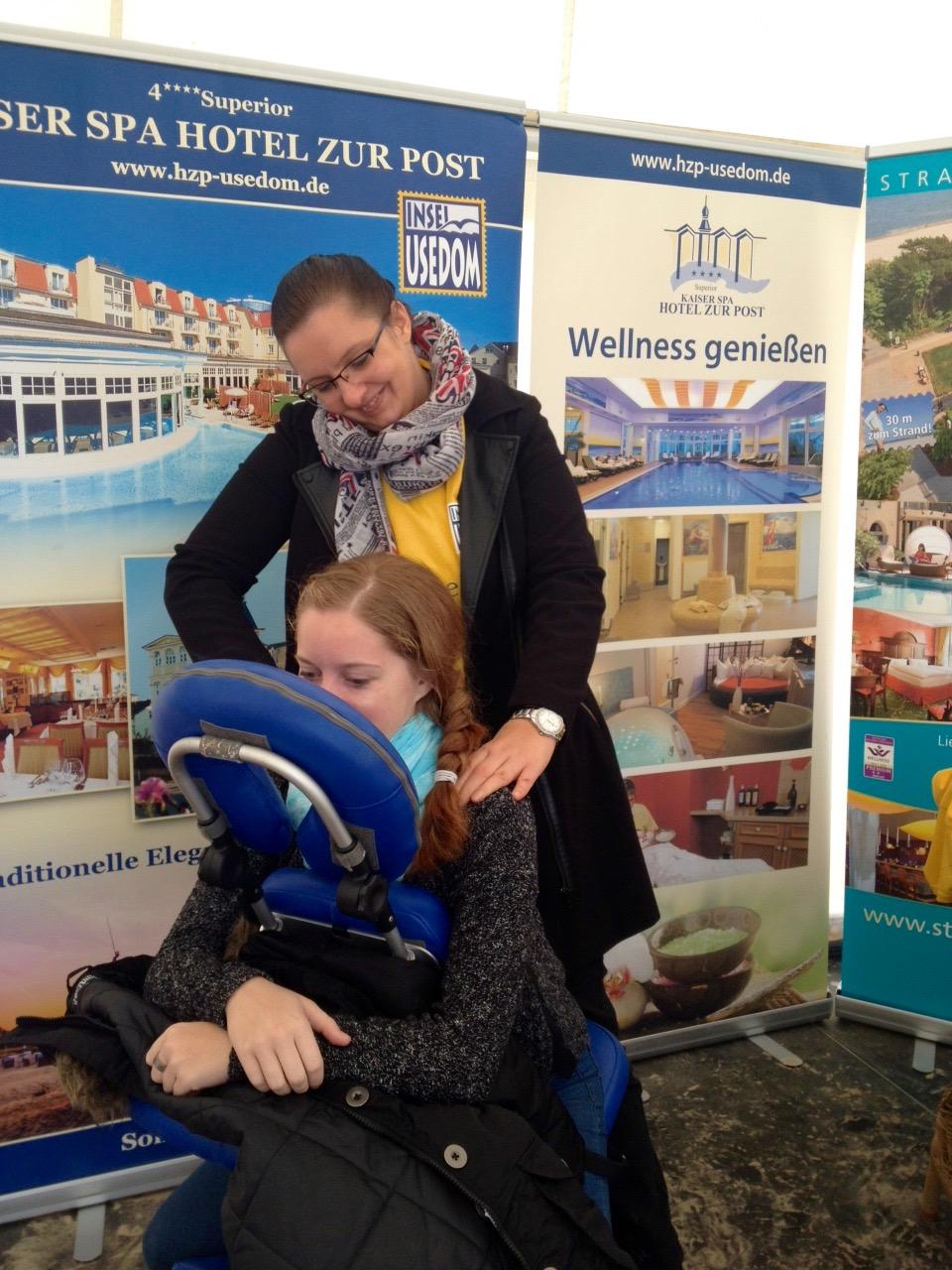 Wellnesstage Usedom 2016 – Behandlungen am Strand