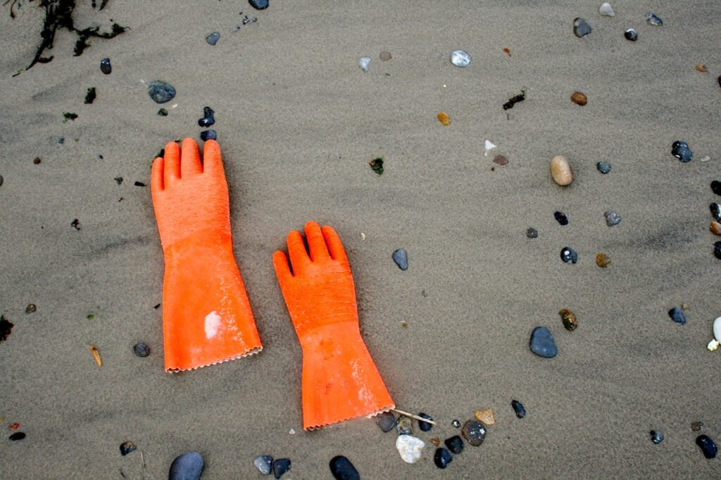 Fundstuecke am Strand von Hvide Sande