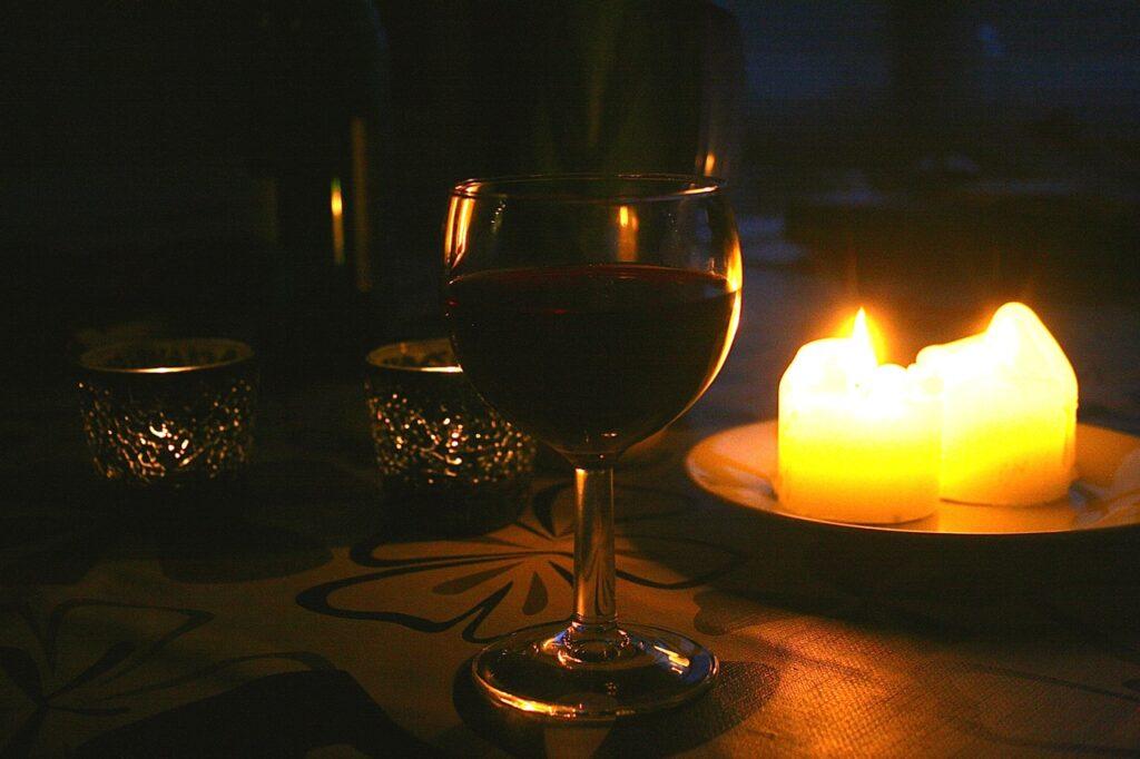 Abendstimmung im Ferienhaus Daenemark