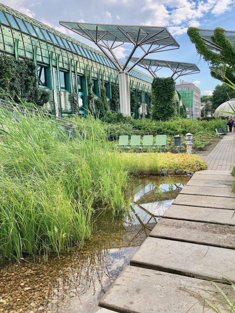 Garten der Uni-Bibliothek Warschau
