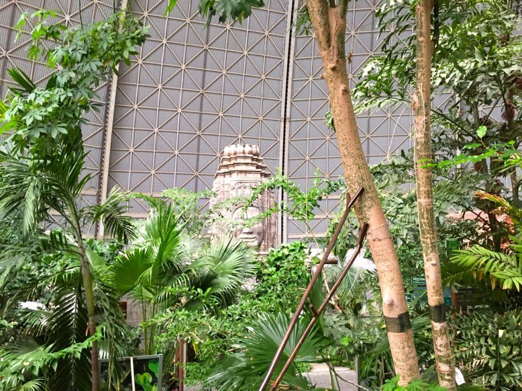 Tropical Islands Bilder - im Regenwald mit Blick nach Angkor Watt im Saunabereich