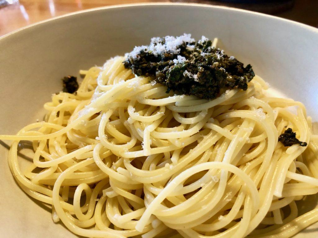 Rezept Spaghetti mit Giersch Pesto