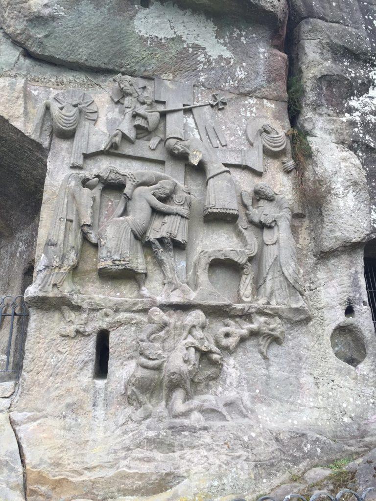 Externsteine Kreuzabnahme-Relief