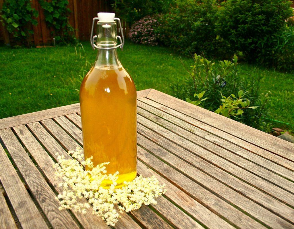 Holunder-Sirup // Holundersirup - abgefüllt in Flaschen - Ist das Superfood?