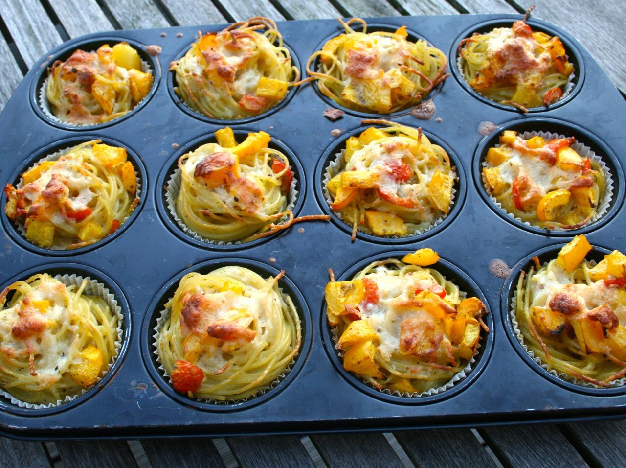 Spaghetti-Muffins - Superfood Rezepte