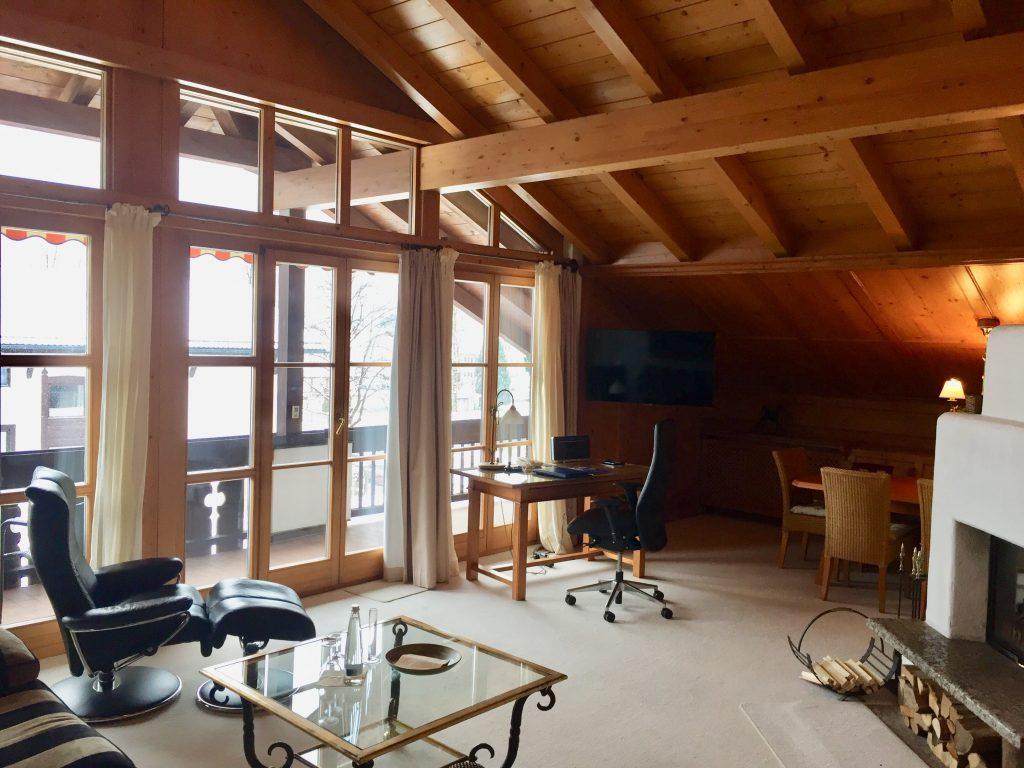 Hotel Zugspitze: Blick in die Suite