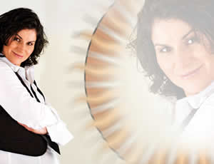 Produzentin, Sängerin und DJane Ingrid Häfner; eine echte Powerfrau
