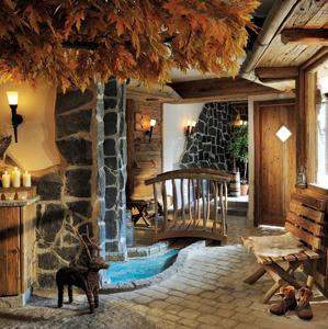 Saunadorf im Romantik Hotel Knippschild