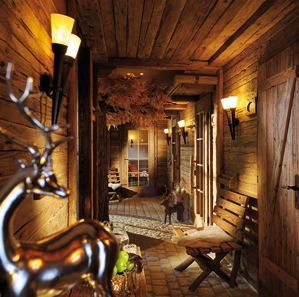 Viel Liebe zum Detail bietet das originelle Saunadorf im Romantik Hotel Knippschild