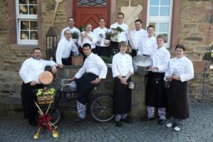 Küchenteam auf Schloss Rheinfels