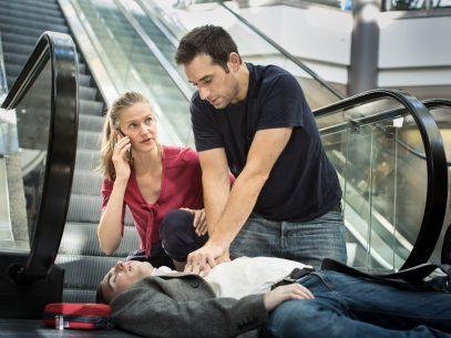 Notfallsituation mit Herzdruckmassage