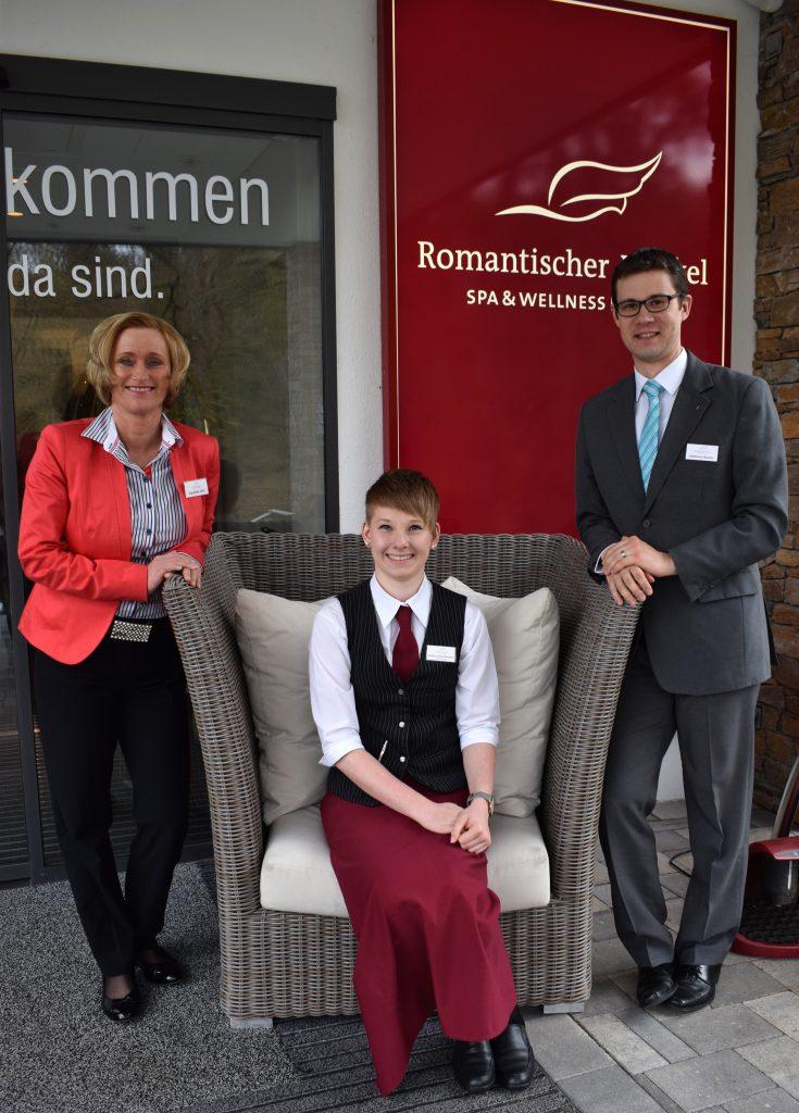 Sophie Louise Strecker - mit Matthias Reuter & Caroline Ulm vom Hotelmanagement