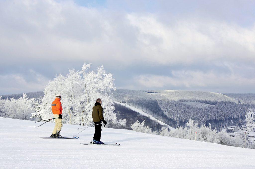 Skifahrer im Sauerland