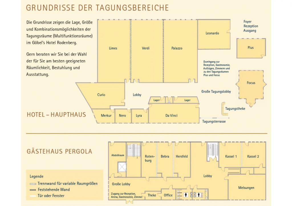 Grundrisse Göbels Hotel Rotenburg a.d. Fulda